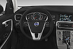 Car pictures of steering wheel view of a 2018 Volvo V60 T5-Cross-Country 5 Door Wagon Steering Wheel