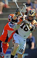 23 August 2008: Rochester Rattlers' Defenseman Jack Reid in action against the Philadelphia Barrage during the Semi-Finals of the Major League Lacrosse Championship Weekend at Harvard Stadium in Boston, MA. The Rattlers defeated the Barrage 16-15 in sudden death overtime, advancing to the upcoming Championship Game...Mandatory Photo Credit: Ed Wolfstein Photo