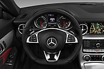 Car pictures of steering wheel view of a 2017 Mercedes Benz SLC AMG 2 Door Convertible Steering Wheel