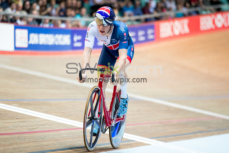 Picture by Alex Whitehead/SWpix.com - 11/11/2017 - Cycling - Tissot UCI Track Cycling World Cup - HSBC UK National Cycling Centre, Manchester, England - Mark Stewart of Great Britain during the Men's Omnium Tempo race.