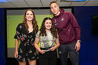 Pictured: Steven Benda of Swansea City during the Swans Community Trust awards dinner at the liberty stadium in Swansea, Wales, UK <br /> Thursday 02 April 2019