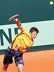 Brazil's Gabriel Decamps during Junior Davis Cup 2015 match. September  30, 2015.(ALTERPHOTOS/Acero)