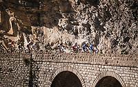 Tim DECLERCQ (BEL/Deceuninck-Quick Step) leading the way up the final climb: the Col de Turini<br /> <br /> Stage 7: Nice to Col de Turini (181km)<br /> 77th Paris - Nice 2019 (2.UWT)<br /> <br /> ©kramon