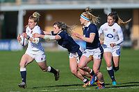 Claudia MacDonald of England during the Guinness Six Nations match between England Women and Scotland Women at Castle Park Stadium, Doncaster, England on 3 April 2021. Photo by Thomas Gadd / PRiME Media Images.