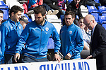 Inverness Caley v St Johnstone…08.04.17     SPFL    Tulloch Stadium<br />Richie Foster and Danny Swanson pictured watching the game today after their disciplinary hearing was finfihed in the week<br />Picture by Graeme Hart.<br />Copyright Perthshire Picture Agency<br />Tel: 01738 623350  Mobile: 07990 594431