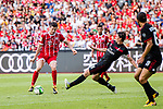 Bayern Munich Forward Robert Lewandowski (L) fights for the ball with AC Milan Midfielder Riccardo Montolivo (C) during the 2017 International Champions Cup China  match between FC Bayern and AC Milan at Universiade Sports Centre Stadium on July 22, 2017 in Shenzhen, China. Photo by Marcio Rodrigo Machado / Power Sport Images