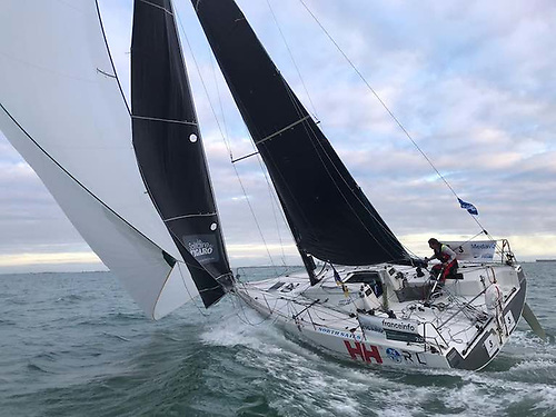 Dun Laoghaire Harbour's Kenny Rumball is competing in the Rookie division in his first ever Figaro Race