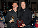 St Johnstone FC Player of the Year Awards 2017-18<br />McDiarmid Park Supporters Bus Player of the Year is Chris Millar presented by John Aitchison<br />Picture by Graeme Hart.<br />Copyright Perthshire Picture Agency<br />Tel: 01738 623350  Mobile: 07990 594431