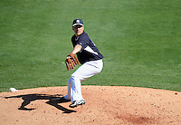 New York Yankees pitcher Masahiro Tanaka (19) delivers a pitch during a spring training game against the Philadelphia Phillies on March 1, 2014 at Steinbrenner Field in Tampa, Florida.  Tanaka signed for the 155 million dollars after he went 24-0 with a 1.27 ERA for the Rakuten Golden Eagles in Japan during the 2013 season;  New York defeated Philadelphia 4-0.  (Mike Janes/Four Seam Images)