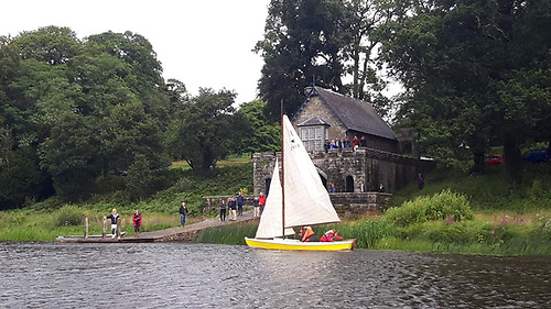 Ranger arriving at the Crom boathouse