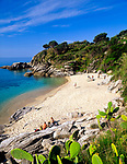 Italien, Toskana, Insel Elba, Cavoli: Badeort und Strand im Sueden | Italy, Tuscany, Isola d'Elba, Cavoli: resort and beach in the south