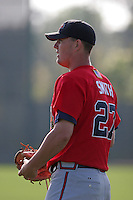 Atlanta Braves minor leaguer Dan Smith during Spring Training at Disney's Wide World of Sports on March 15, 2007 in Orlando, Florida.  (Mike Janes/Four Seam Images)
