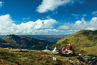 Gleann Mor from Ben Donich, the Arrochar Alps, Loch Lomond and the Trossachs National Park, Argyll & Bute