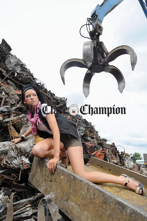 Model Lorraine Mc Carthy. Photograph by John Kelly.
