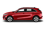 Car Driver side profile view of a 2019 KIA Ceed Fusion Door Hatchback Side View