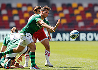 24th April 2021; Brentford Community Stadium, London, England; Gallagher Premiership Rugby, London Irish versus Harlequins; Nick Phipps of London Irish passes the ball