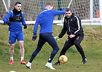 St Johnstone Training... 05.03.21<br />Manager Callum Davidson pictured during training at McDiarmid Park this morning with David Wotherspoon and Craig Conway...<br />Picture by Graeme Hart.<br />Copyright Perthshire Picture Agency<br />Tel: 01738 623350  Mobile: 07990 594431