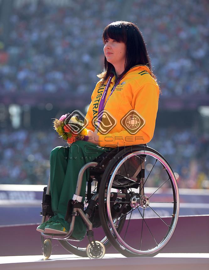 Angela Ballard (AUS) Silver medal<br /> Athletics: Women's 200m T-53<br /> Olympic Stadium (Friday 7 Sept)<br /> Paralympics - Summer / London 2012<br /> London England 29 Aug - 9 Sept <br /> © Sport the library / Jeff Crow