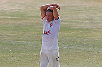 Aaron Beard of Essex looks frustrated after having an appeal turned down during Essex CCC vs Surrey CCC, Bob Willis Trophy Cricket at The Cloudfm County Ground on 11th August 2020
