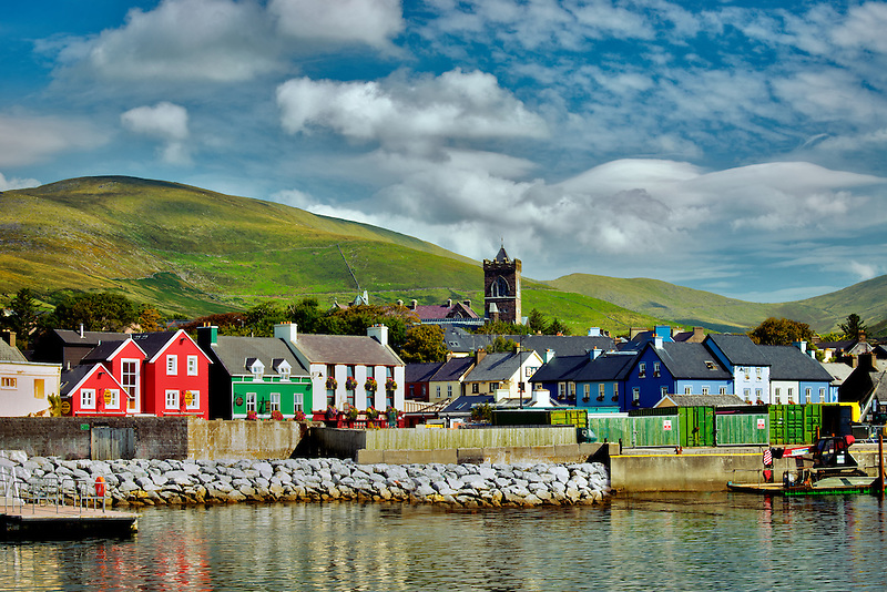 The town of Dingle and bay. Ireland