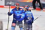 Mirko Höfflin (Nr.10 - ERC Ingolstadt) jubelt mit Tim Wohlgemuth (Nr.33 - ERC Ingolstadt) nach dessen Treffer zum 1:0 beim Spiel im Halbfinale der DEL, ERC Ingolstadt (dunkel) - Eisbaeren Berlin (hell).<br /> <br /> Foto © PIX-Sportfotos *** Foto ist honorarpflichtig! *** Auf Anfrage in hoeherer Qualitaet/Aufloesung. Belegexemplar erbeten. Veroeffentlichung ausschliesslich fuer journalistisch-publizistische Zwecke. For editorial use only.