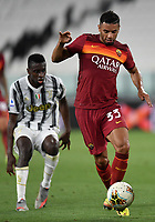 Blaise Matuidi of Juventus and Bruno Peres of AS Roma during the Serie A football match between Juventus FC and AS Roma at Juventus stadium in Turin (Italy), August 1st, 2020. Play resumes behind closed doors following the outbreak of the coronavirus disease. Photo Andrea Staccioli / Insidefoto