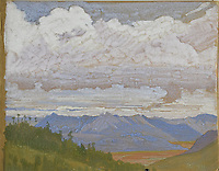 BNPS.co.uk (01202 558833)<br /> Pic: StroudAuctions/BNPS<br /> <br /> Pictured: The skilled artist produced dozens of watercolours and sketches of the scenes he witnessed, including glacial peaks and camp life.<br /> <br /> Fascinating art work by a British mountaineer who twice climbed Mount Everest have sold at auction a century later for over £30,000.<br /> <br /> Theodore Howard Somervell took part in pioneering expeditions to the Himalayas in 1922 and 1924.<br /> <br /> He got to within 1,000ft of the summit, the highest point reached at that time, despite not using an oxygen tank.<br /> <br /> The skilled artist produced dozens of watercolours and sketches of the scenes he witnessed, including glacial peaks and camp life.<br /> <br /> His works sparked a bidding war when they were sold by a direct descendant with Stroud Auctions, of Gloucs.  An oil on canvas painting of Everest base camp in 1922 sold for £7,500, almost 40 times its estimate.