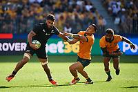 5th September 2021; Optus Stadium, Perth, Australia: Bledisloe Cup international rugby, Australia versus New Zealand;  Akira Ioane of the All Blacks during the 3rd Bledisloe Cup test match at Optus Stadium