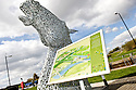 20/04/2010   Copyright  Pic : James Stewart.02_helix_sign  .::  HELIX PROJECT ::  THE NEW SIGN SITES BETWEEN THE KELPIES AT LOCK 2 ::.