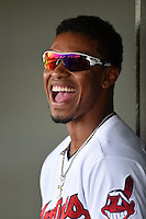 Peoria Javelinas shortstop Francisco Lindor (12) during an Arizona Fall League game against the Scottsdale Scorpions on October 18, 2014 at Surprise Stadium in Surprise, Arizona.  Peoria defeated Scottsdale 4-3.  (Mike Janes/Four Seam Images)