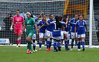 BOGOTA - COLOMBIA, 16-11-2020: Millonarios F.C. y La Equidad durante partido por la fecha 9 de la Liga Femenina BetPlay DIMAYOR 2020 jugado en el estadio Nemesio Camacho El Campin en la ciudad de Bogota. / Millonarios F.C. and La Equidad during a match for the 9th date of the Women's League BetPlay DIMAYOR 2020 played at the Nemesio Camacho El Campin stadium in Bogota city. / Photo: VizzorImage / Daniel Garzon / Cont.