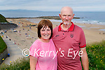 Nodie and Jimmy Slattery from Ballyduff enjoying a stroll on the Cliff Walk in Ballybunion on Sunday.