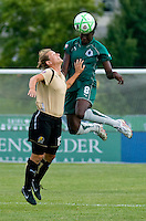 Saint Louis Athletica defender Tina Ellertson (8) during a WPS match at Anheuser-Busch Soccer Park, in St. Louis, MO, July 26, 2009. The match ended in a 1-1 tie.