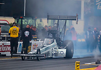 Sep 13, 2019; Mohnton, PA, USA; NHRA top fuel driver Mike Salinas during qualifying for the Keystone Nationals at Maple Grove Raceway. Mandatory Credit: Mark J. Rebilas-USA TODAY Sports