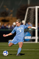 North Carolina Tar Heels defender Whitney Engen (9). The North Carolina Tar Heels defeated the Notre Dame Fighting Irish 2-1 during the finals of the NCAA Women's College Cup at Wakemed Soccer Park in Cary, NC, on December 7, 2008. Photo by Howard C. Smith/isiphotos.com