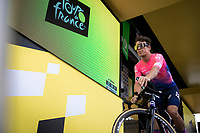 Rigoberto Uran (COL/EF Education First) at the pre stage sign on. <br /> <br /> Stage 14: Tarbes to Tourmalet (117km)<br /> 106th Tour de France 2019 (2.UWT)<br /> <br /> ©kramon