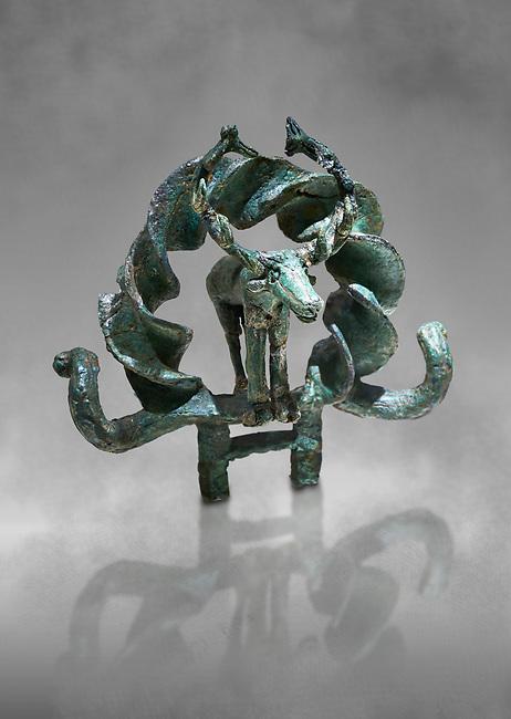 "Bronze Age Hattian  ceremonial standard known as ""Sun Disks"" from possible Royal Bronze Age grave (2500 BC - 2200 BC)- Alacahoyuk - Museum of Anatolian Civilisations, Ankara, Turkey"