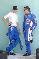 HOMESTEAD MIAMI, FL - OCTOBER 16, 2006: NASCAR Nextel cup drivers have open practice at Homestead Miami Speedway, Homestead Florida<br /> <br /> People;  Kyle & Kurt Busch