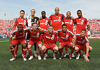 23 May 09: Toronto FC starting eleven during a game between the New England Revolution and Toronto FC.Toronto FC won 3-1.