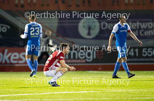 Hamilton Accies v St Johnstone…08.05.18…  New Douglas Park    SPFL<br />Darren Lyon reacts at full time as Accies lose 2-1<br />Picture by Graeme Hart. <br />Copyright Perthshire Picture Agency<br />Tel: 01738 623350  Mobile: 07990 594431