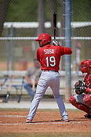 St. Louis Cardinals Edmundo Sosa during a minor league Spring Training game against the Washington Nationals on March 27, 2017 at the Roger Dean Stadium Complex in Jupiter, Florida.  (Mike Janes/Four Seam Images)