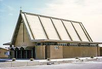 Abu Dhabi, UAE.  Catholic Church. Photographed March 1972.