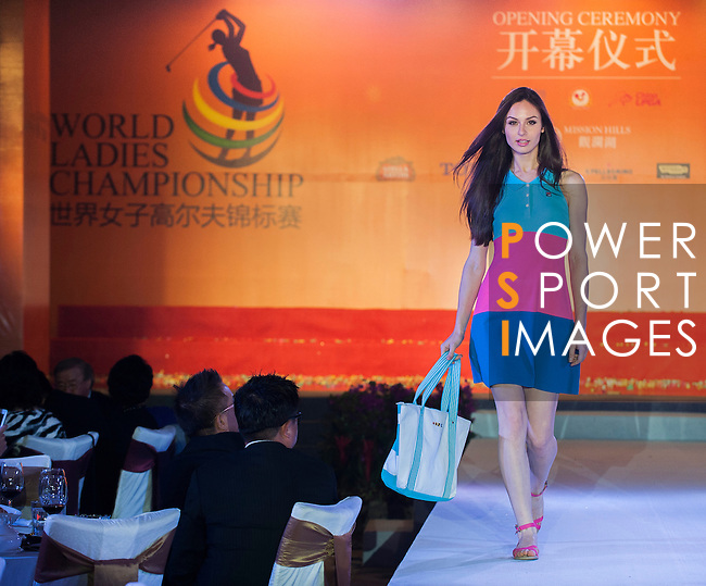 Players and officials attend the Opening Ceremony & Welcome Dinner ahead the World Ladies Championship at the Mission Hills Haikou Sandbelt course on 6 March 2013 in Hainan island, China . Photo by Victor Fraile / The Power of Sport Images