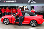 Real Madrid player Antonio Adan participates and receives new Audi during the presentation of Real Madrid's new cars made by Audi at the Jarama racetrack on November 8, 2012 in Madrid, Spain.(ALTERPHOTOS/Harry S. Stamper)