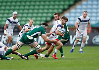 4th October 2020; Twickenham Stoop, London, England; Gallagher Premiership Rugby, London Irish versus Bristol Bears; Harry Randall of Bristol Bears is tackled by Matt Rogerson of London Irish