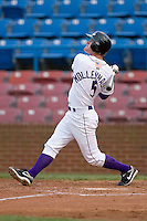 Dale Mollenhauer #5 of the Winston-Salem Dash follows through on his swing versus the Potomac Nationals at Wake Forest Baseball Stadium May 8, 2009 in Winston-Salem, North Carolina. (Photo by Brian Westerholt / Four Seam Images)