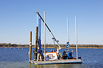 Putting Up Manatee Zone No Wake Signs, Crystal River