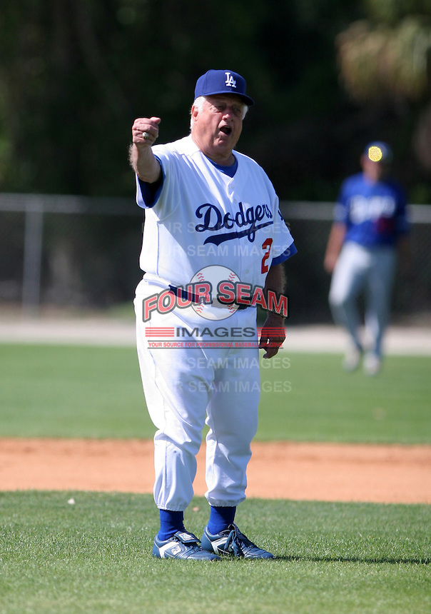 Los Angeles Dodgers minor leaguer Tommy Lasorda during Spring Training at Dodgertown on March 22, 2007 in Vero Beach, Florida.  (Mike Janes/Four Seam Images)