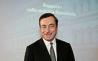 MARIO DRAGHI.Roma 06/12/2010 Banca d'Italia - Rapporto sulla stabilita' finanziaria..Press conference of the governor of Bank of Italy about financial stability..Photo Zucchi Insidefoto