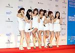 Rainbow, Jun 07, 2014 : K-pop girl group Rainbow pose before the Dream Concert in Seoul, South Korea.  (Photo by Lee Jae-Won/AFLO) (SOUTH KOREA)
